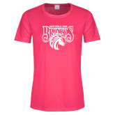 Ladies Performance Hot Pink Tee-Official Logo