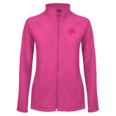 Ladies Fleece Full Zip Raspberry Jacket-Bronco
