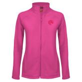 Ladies Fleece Full Zip Raspberry Jacket-Bronco