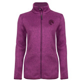 Dark Pink Heather Ladies Fleece Jacket-Bronco