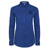 Ladies Royal Twill Button Down Long Sleeve-Bronco
