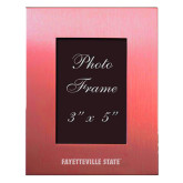 Pink Brushed Aluminum 3 x 5 Photo Frame-Fayetteville State Engraved