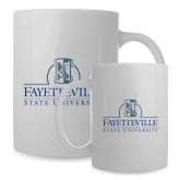 Full Color White Mug 15oz-Fayetteville State University Logo