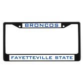 Metal License Plate Frame in Black-Broncos