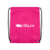 Pink Drawstring Backpack-Faith Eagles