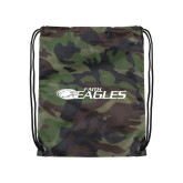 Camo Drawstring Backpack-Faith Eagles