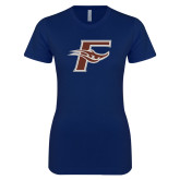 Next Level Ladies SoftStyle Junior Fitted Navy Tee-F