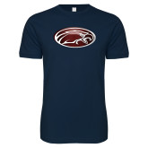 Next Level SoftStyle Navy T Shirt-Eagle
