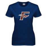 Ladies Navy T Shirt-F