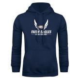 Navy Fleece Hoodie-Cross Country