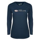 Ladies Syntrel Performance Navy Longsleeve Shirt-Faith Eagles