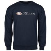 Navy Fleece Crew-Faith Eagles