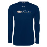 Under Armour Navy Long Sleeve Tech Tee-Faith Eagles