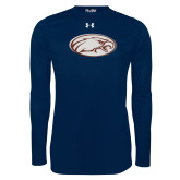 Under Armour Navy Long Sleeve Tech Tee-Eagle