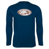 Performance Navy Longsleeve Shirt-Eagle