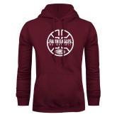 Maroon Fleece Hoodie-Basketball