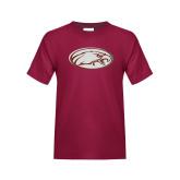 Youth Maroon T Shirt-Eagle