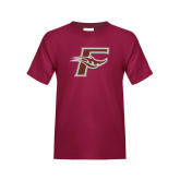 Youth Maroon T Shirt-F