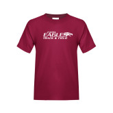 Youth Maroon T Shirt-Track & Field
