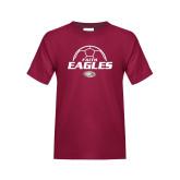 Youth Maroon T Shirt-Soccer