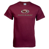 Maroon T Shirt-Faith Eagles Stacked