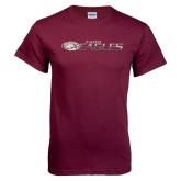 Maroon T Shirt-Distressed