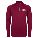 Under Armour Maroon Tech 1/4 Zip Performance Shirt-Eagle
