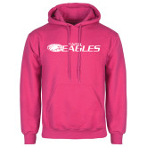 Fuchsia Fleece Hoodie-Faith Eagles