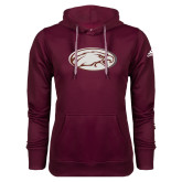 Adidas Climawarm Maroon Team Issue Hoodie-Eagle