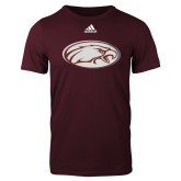 Adidas Maroon Logo T Shirt-Eagle