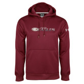 Under Armour Maroon Performance Sweats Team Hoodie-Faith Eagles