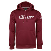 Under Armour Maroon Performance Sweats Team Hoodie-Track & Field