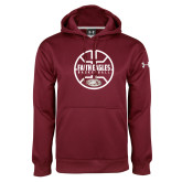 Under Armour Maroon Performance Sweats Team Hoodie-Basketball