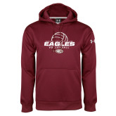 Under Armour Maroon Performance Sweats Team Hoodie-Volleyball