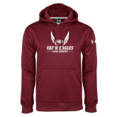 Under Armour Maroon Performance Sweats Team Hoodie-Cross Country