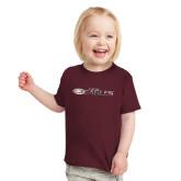 Toddler Maroon T Shirt-Faith Eagles