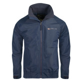 Navy Charger Jacket-Faith Eagles