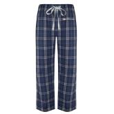Navy/White Flannel Pajama Pant-Faith Eagles