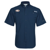 Columbia Tamiami Performance Navy Short Sleeve Shirt-Eagle