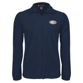 Fleece Full Zip Navy Jacket-Eagle