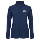 Ladies Fleece Full Zip Navy Jacket-Eagle