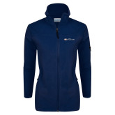 Columbia Ladies Full Zip Navy Fleece Jacket-Faith Eagles