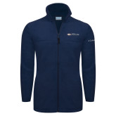 Columbia Full Zip Navy Fleece Jacket-Faith Eagles