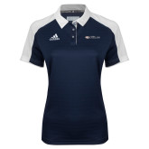 Ladies Adidas Modern Navy Varsity Polo-Faith Eagles