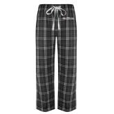 Black/Grey Flannel Pajama Pant-Faith Eagles