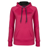 Ladies Pink Raspberry Tech Fleece Hoodie-Faith Eagles