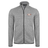 Grey Heather Fleece Jacket-Eagle