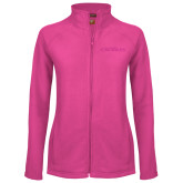 Ladies Fleece Full Zip Raspberry Jacket-Faith Eagles