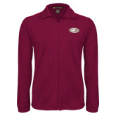 Fleece Full Zip Maroon Jacket-Eagle