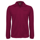 Fleece Full Zip Maroon Jacket-Faith Eagles